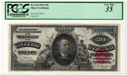 1891 20 Silver Certificate Fr. 318. Pcgs Vf-35/small Repairs. Y00007530