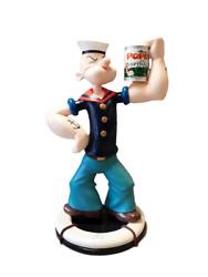 Sailor Guy With Spinach Can On Base Life Size Statue