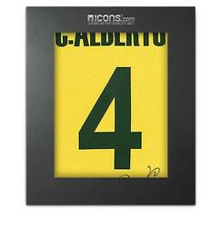 Carlos Alberto Back Signed Retro Brazil Home Shirt In Deluxe Packaging
