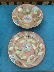 Southern Living At Home Gail Pittman Cottage Garden Large Bowl And Plate Set