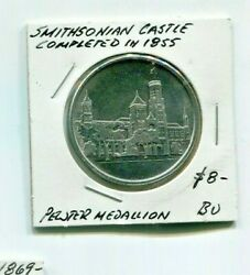 Smithsonian Castle Completed In 1855 40mm Pewter Pewter Medallion