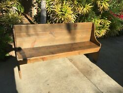 Antique Early American Pine Bench - C1780-1820