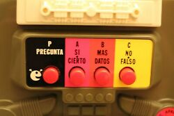 Vintage Spanish 70and039s Type 2 Mego Toy 2-xl Talking Robot 8 Track Player W/ Tapes