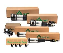 Arnott Front And Rear Air Struts Compressor Sensors Kit For W220 S-class Airmatic