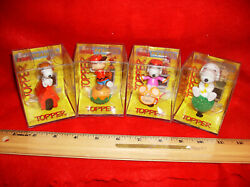Complete Set Of Snoopy Peanuts Toppers In The Original Packaging Rare