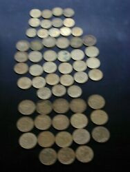 France 58 Coin Lot 1963-1998 5 10 20 Centimes Km929 930 933