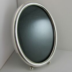 Antique 800 Silver 4.5 X 6.5 Oval Picture Frame Hallmarked 95.3 Grams