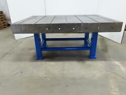 70x 50x 31 Cast Iron Slotted Welding Layout Inspection Assembly Table Bench