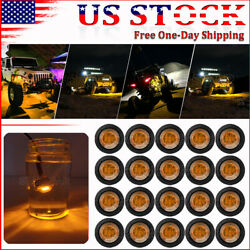 20x Amber Led Rock Lights For Jeep Off-road Truck Trail Fender Underbody Light
