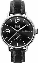 Bell And Ross Vintage Ww1 Automatic Date Menand039s Watch Brww190-bl-st/scr