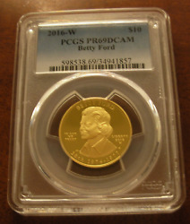 Us 2016w Gold 1/2 Oz 10 Pcgs Pf69dcam First Spouse Series Betty Ford