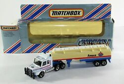 Rare Matchbox Convoy Cy17 Scania Tanker Amoco Truck From 1983