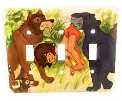 Disney Jungle Book Wolf Panther Baloo Triple Switch Plate Light Cover Wallplate