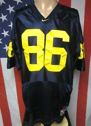University Michigan Med Football Jersey Wolverines Um Embroidered Nike 86