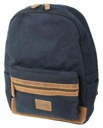 Rawlings Canvas Collection Backpack Dark Denim Leather Navy Laptop Slot V164 400 $119.99