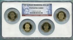 2007-s Us Proof Presidential Dollar Set - Ngc Pf69 Ultra Cameo