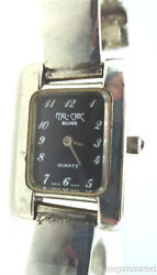 Rare Vintage Womens 925 Sterling Silver Ital-chic Buckle Bracelet Band Watch