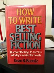How To Write Best Selling Fiction By Dean Koontz 1981, Hardcover