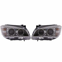 Valeo Pair Set Of Two Front Bi-xenon Headlights Lamps For Bmw E84 X1 2013-2015