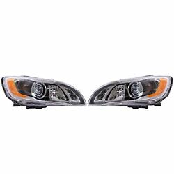Valeo Pair Set Of 2 Front Hid Xenon Headlight Lamps 12v For Volvo S60 2014-2018
