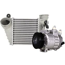 Valeo Set Of A/c Compressor And Charge Air Cooler Intercooler For Vw Jetta L4 2006