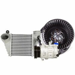 Valeo A/c Compressor And Intercooler And Blower Motor Kit For Volkswagen Jetta L5