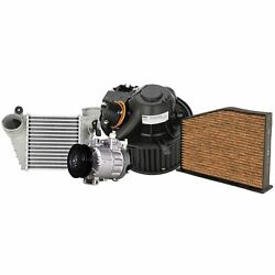 Valeo A/c Compressor W/ Intercooler And Blower Motor And Cabin Air Filter Kit For Vw