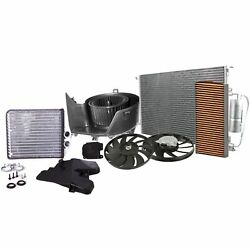 Valeo Blower Heater Core Actuator Condenser Cabin Air Filter And 2 Fan Kit For 9-3