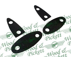 Set Of 4 Classic Mini 24a2175 And 24a2176 Boot Hinge Gaskets - 2 X Bmp401 / Bmp402