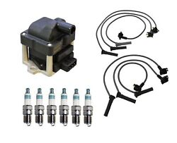 Denso Ignition Coil And Wire Set 6 Iridium Power Spark Plug Kit For Mazda Ford V6