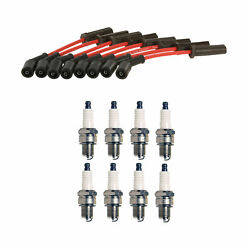 Denso Wire Set 7mm And 8 Iridium Longlife Spark Plugs .044 Kit For Caddy Chevy 6.2