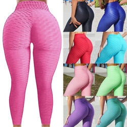 Women Anti Cellulite Yoga Pants High Waist Ruched Butt Lift Leggings Fitness PP3 $13.86