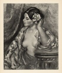 Amazing Signed Renoir 1919 Limited Engraving Woman Styling Her Hair Framed Coa