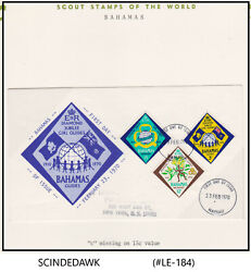 Bahamas - 1970 Girl Guides Fdc Error C Missing On 15c Value Stamp