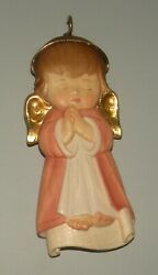 New Pink Gardian Angel, 10208-r, , Wood Figurine From Lepi, Italy