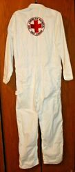 Vintage American National Red Cross Coveralls Size 40r - Rare