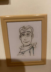 Disney Store Woody Pixar Animation Studios Le 15 Framed Pin Toy Story