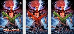 Hellions 3 Jay Anacleto Variant Cover 3-pack Virgin Red/green/trade Dress