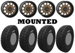 Kit 4 Tensor Dsr35 Tires 35x10-15 On System 3 St-5 Bronze Wheels Can