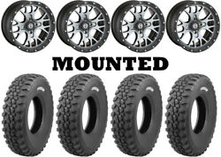 Kit 4 Tensor Ds30 Tires 30x10-15 On Moose 545x Machined Wheels Irs