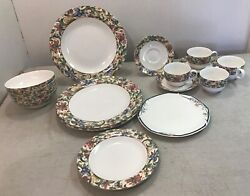 16 Pc Set Of Royal Doulton Everyday Dinnerware 1996 Jacobean And 1988 Juno