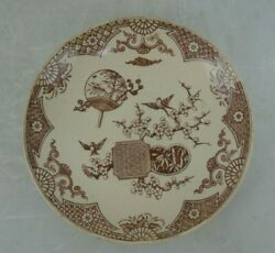 Antique 1879 English T. Furnival and Sons quot;Formosa Brownquot; Saucer
