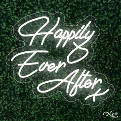 New Happily Ever After 28x24 Led Flex Wall Sign Color Options And Remote Lf002