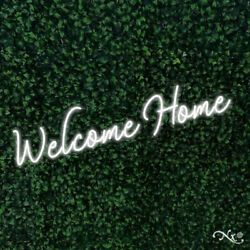 New Welcome Home 48x12 Led Flex Wall Sign Color Options And Remote Lf007