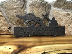 Vintage Mailbox Topper Sign Cannon With Cannon Balls Address Sign