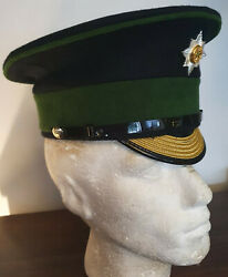 Irish Guards Warrant Officer Class 1 Rsm Forage Peaked Cap And Cap Badge New 56