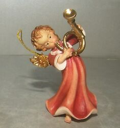 New Angel With Horn For Hanging, 10258 , Wood Figurines Lepi, Italy