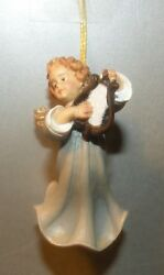 New Angel With Lyra For Hanging, 10258-l , Wood Figurines Lepi, Italy