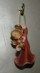 New Angel With Cymbals For Hanging, 10258-i , Wood Figurines Lepi, Italy