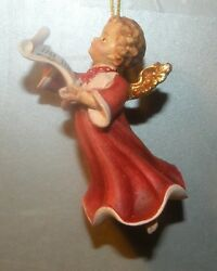 New Angel Signing For Hanging, 10258-h , Wood Figurines Lepi, Italy